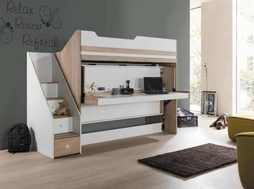 CITY Bunk Bed With Desk