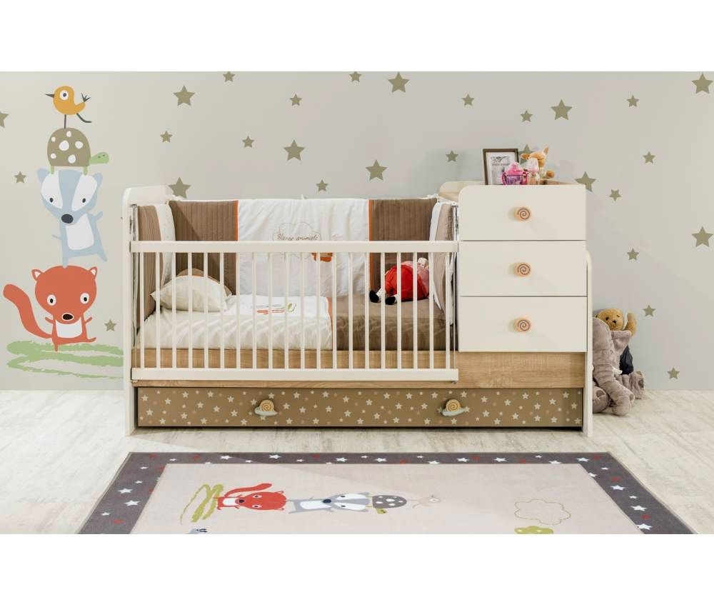 CARINO Convertible Baby Bed