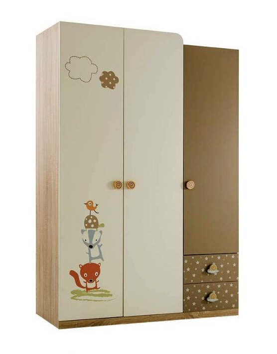 CARINO 3 Door Wardrobe